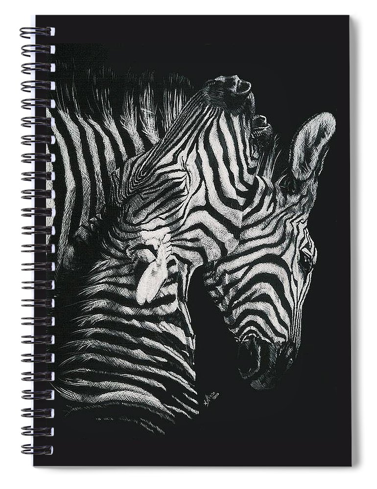 Art Spiral Notebook featuring the drawing Youngbloods by Barbara Keith