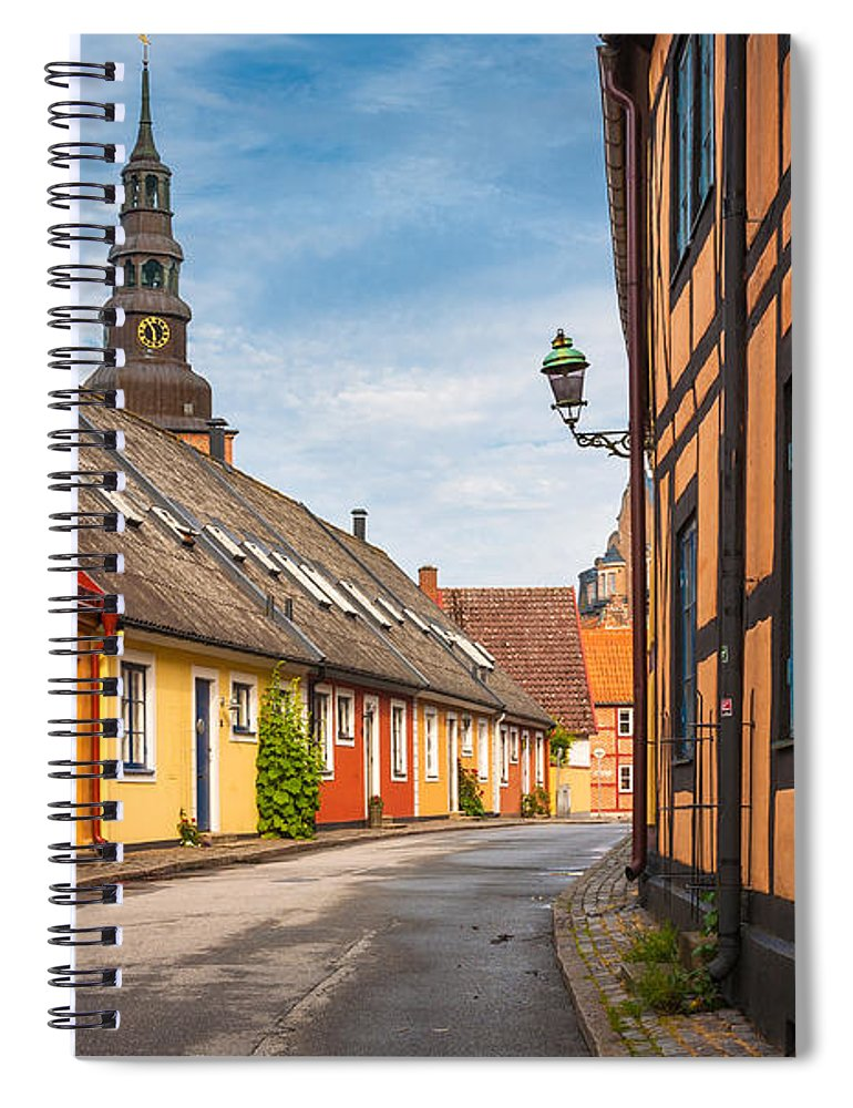 Europa Spiral Notebook featuring the photograph Ystad Street by Inge Johnsson
