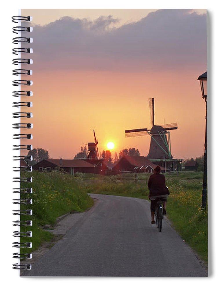 North Holland Spiral Notebook featuring the photograph Zaanse Schans Windmills by Ivan