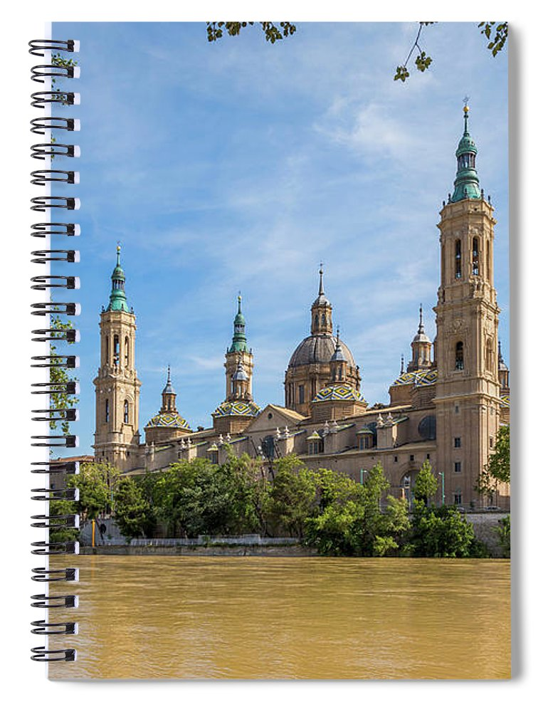 Photography Spiral Notebook featuring the photograph Zaragoza, Zaragoza Province, Aragon by Panoramic Images