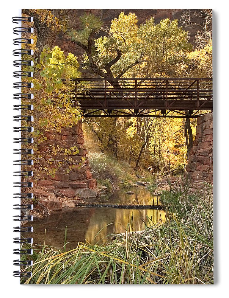 3scape Spiral Notebook featuring the photograph Zion Bridge by Adam Romanowicz