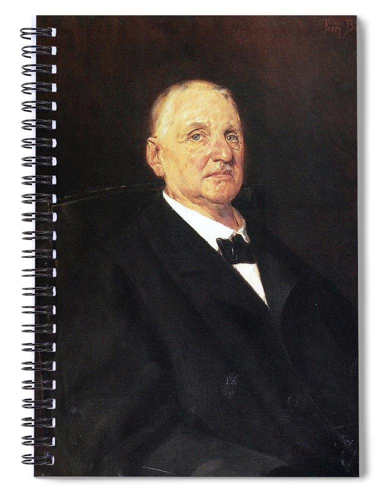 1888 Spiral Notebook featuring the photograph Anton Bruckner (1824-1896) by Granger