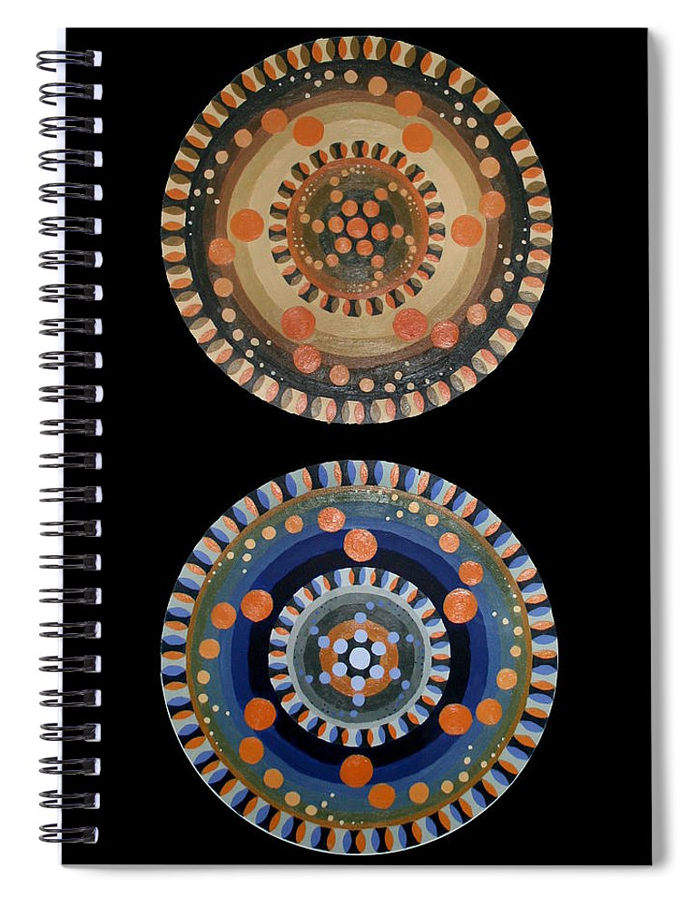 Spiral Notebook featuring the painting Circles by Kate Fortin