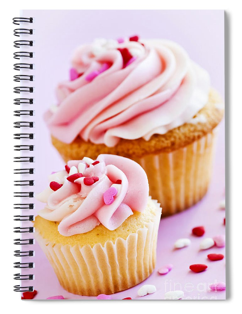 Cupcakes Spiral Notebook featuring the photograph Cupcakes by Elena Elisseeva