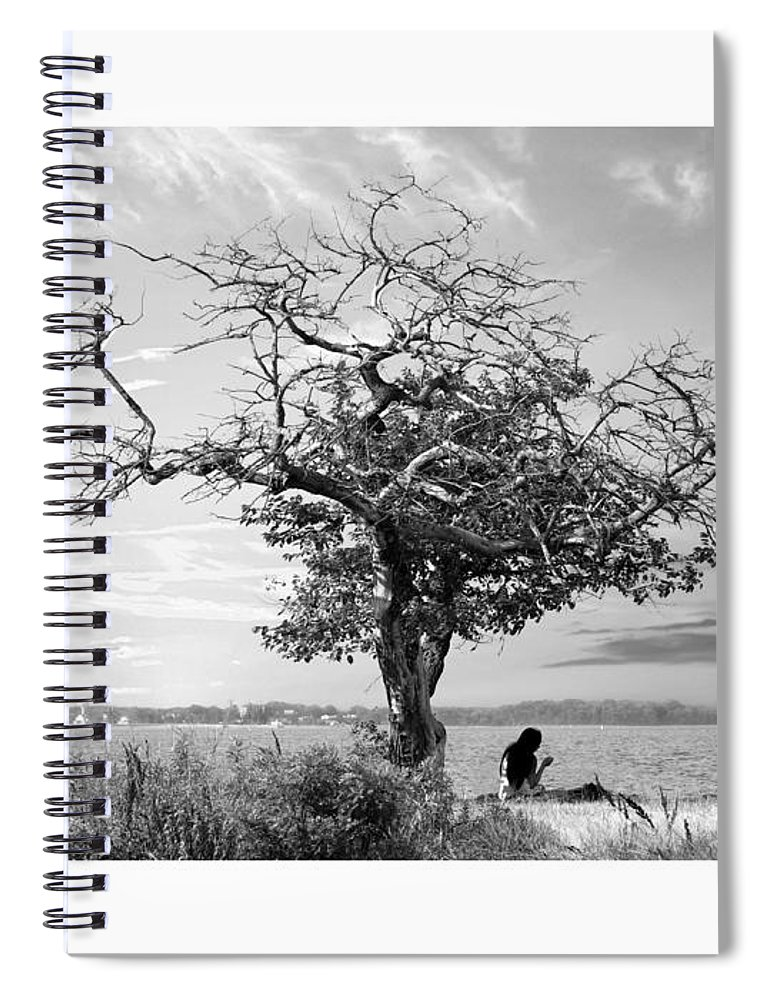 2d Spiral Notebook featuring the photograph Introspective by Brian Wallace
