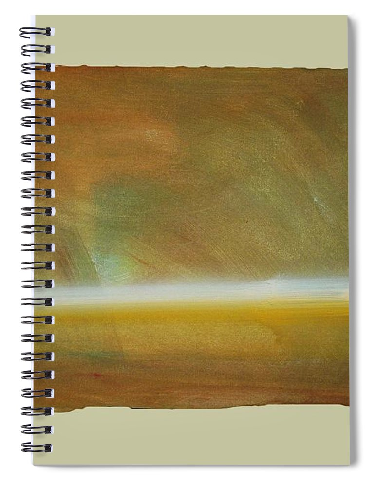 Tsunami Spiral Notebook featuring the painting Turner Tide by Charles Stuart
