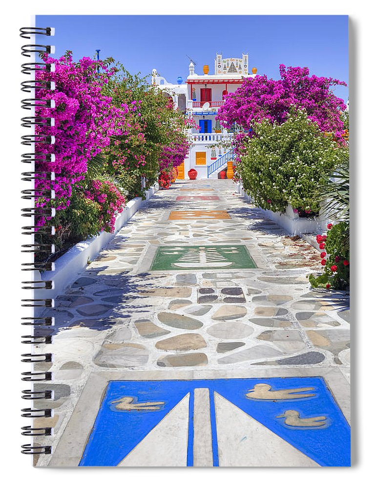 House Spiral Notebook featuring the photograph Mykonos by Joana Kruse