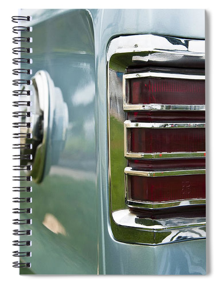 1966 Plymouth Satellite Tail Light Spiral Notebook featuring the photograph 1966 Plymouth Satellite Tail Light by Glenn Gordon