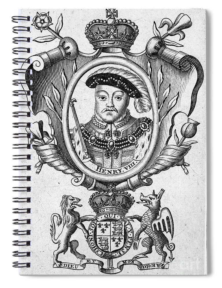 16th Century Spiral Notebook featuring the photograph Henry Viii (1491-1547) by Granger