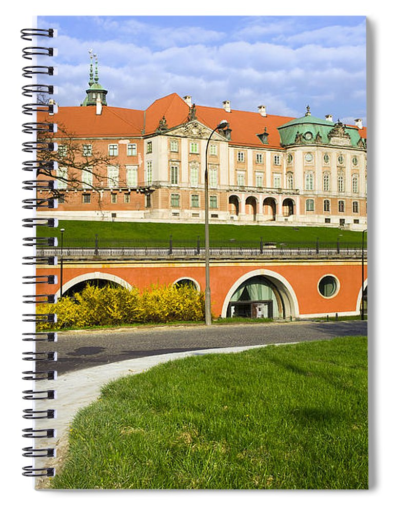 Warsaw Spiral Notebook featuring the photograph Royal Castle In Warsaw by Artur Bogacki