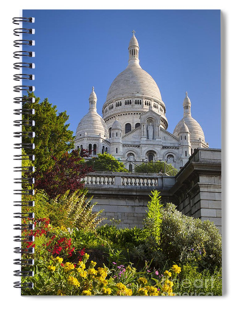 Architectural Spiral Notebook featuring the photograph Basilique Du Sacre Coeur by Brian Jannsen