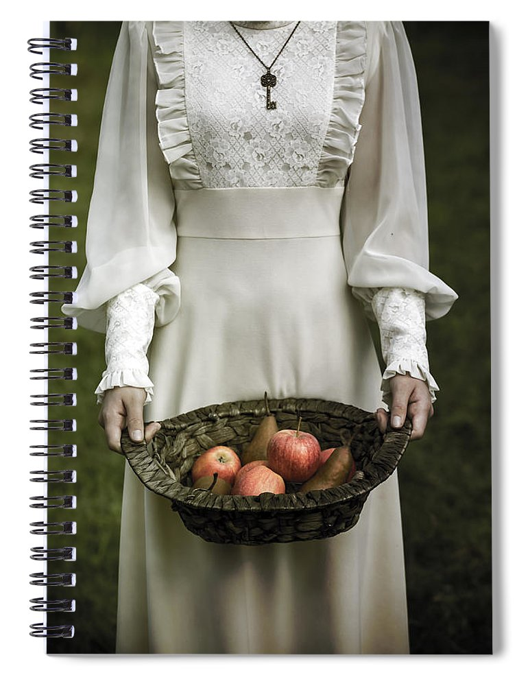 Woman Spiral Notebook featuring the photograph Basket With Fruits by Joana Kruse