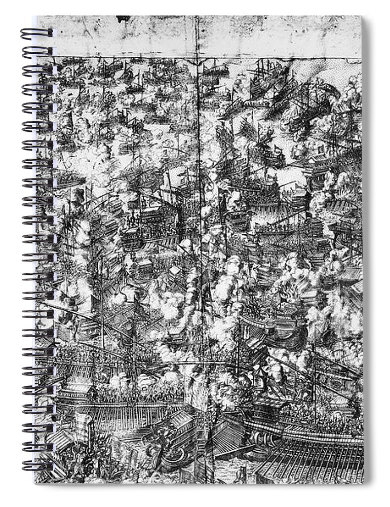 1571 Spiral Notebook featuring the photograph Battle Of Lepanto, 1571 by Granger