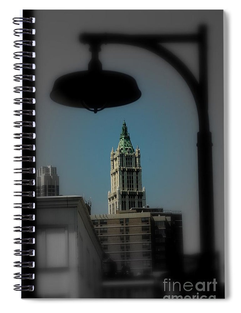 Digital Designs Spiral Notebook featuring the photograph Woolworth Building by Mark Gilman