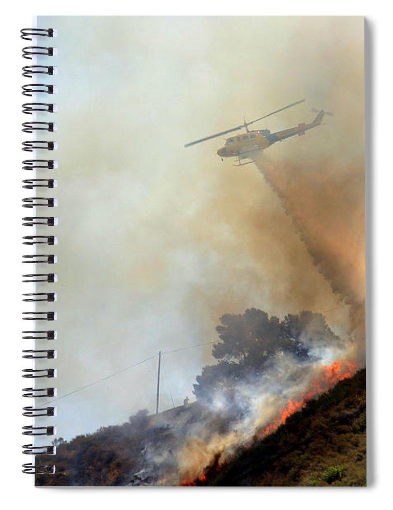 Ash Spiral Notebook featuring the photograph Barnett Fire by Henrik Lehnerer