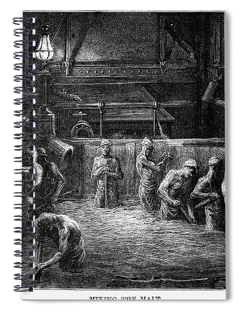 1872 Spiral Notebook featuring the drawing London by Gustave Dore
