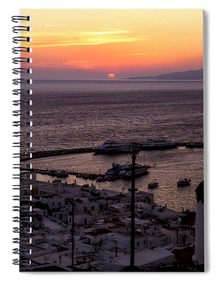 Ano Myli Spiral Notebook featuring the photograph Mykonos by Joana Kruse