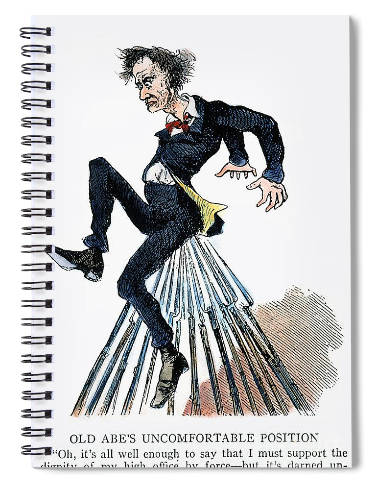 Abraham Lincoln Cartoon Spiral Notebook For Sale By Granger