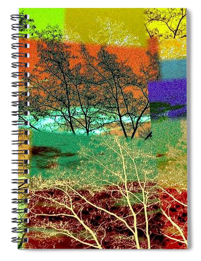 Abstract Fusion Spiral Notebook featuring the digital art Abstract Fusion 48 by Will Borden