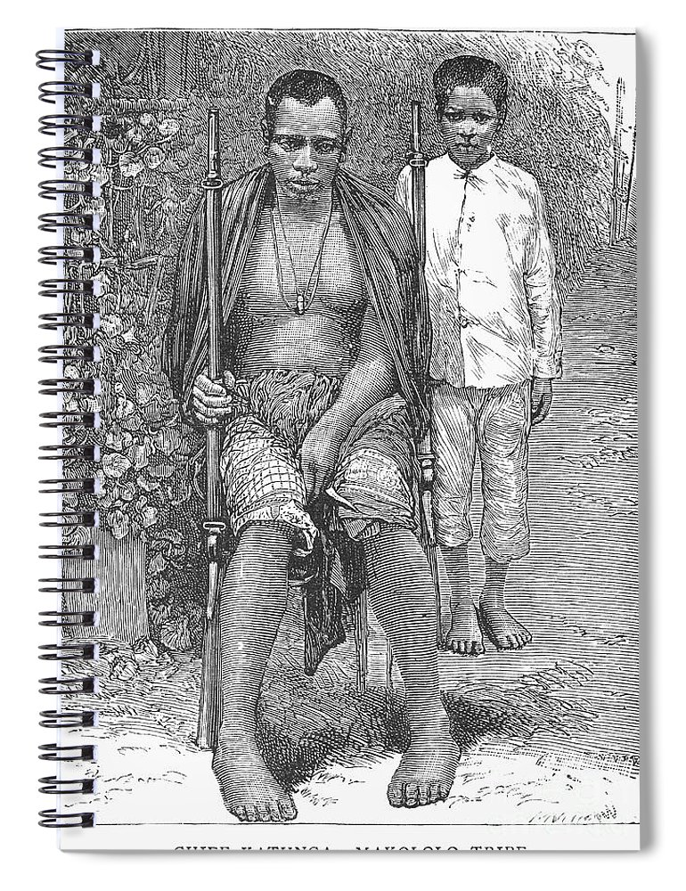 1889 Spiral Notebook featuring the photograph Africa: Makololo Chief by Granger