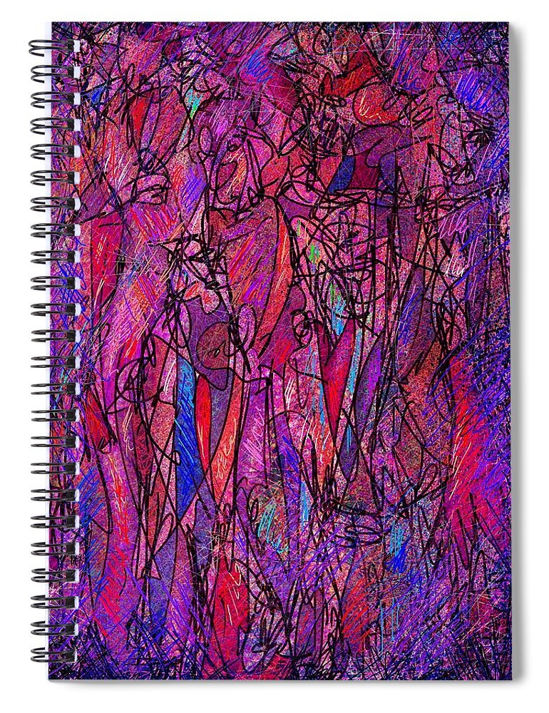 Figure Spiral Notebook featuring the digital art Alone In A Crowd by William Russell Nowicki