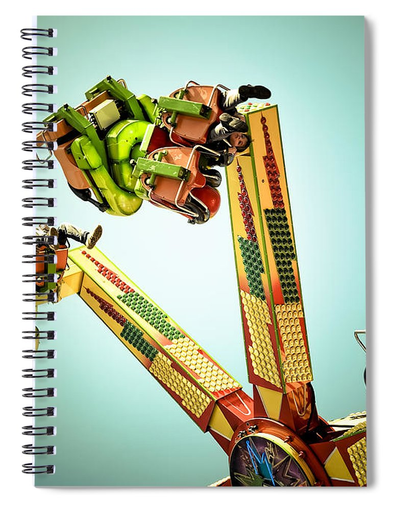 Fun Spiral Notebook featuring the photograph Anti-gravity by Wayne Sherriff
