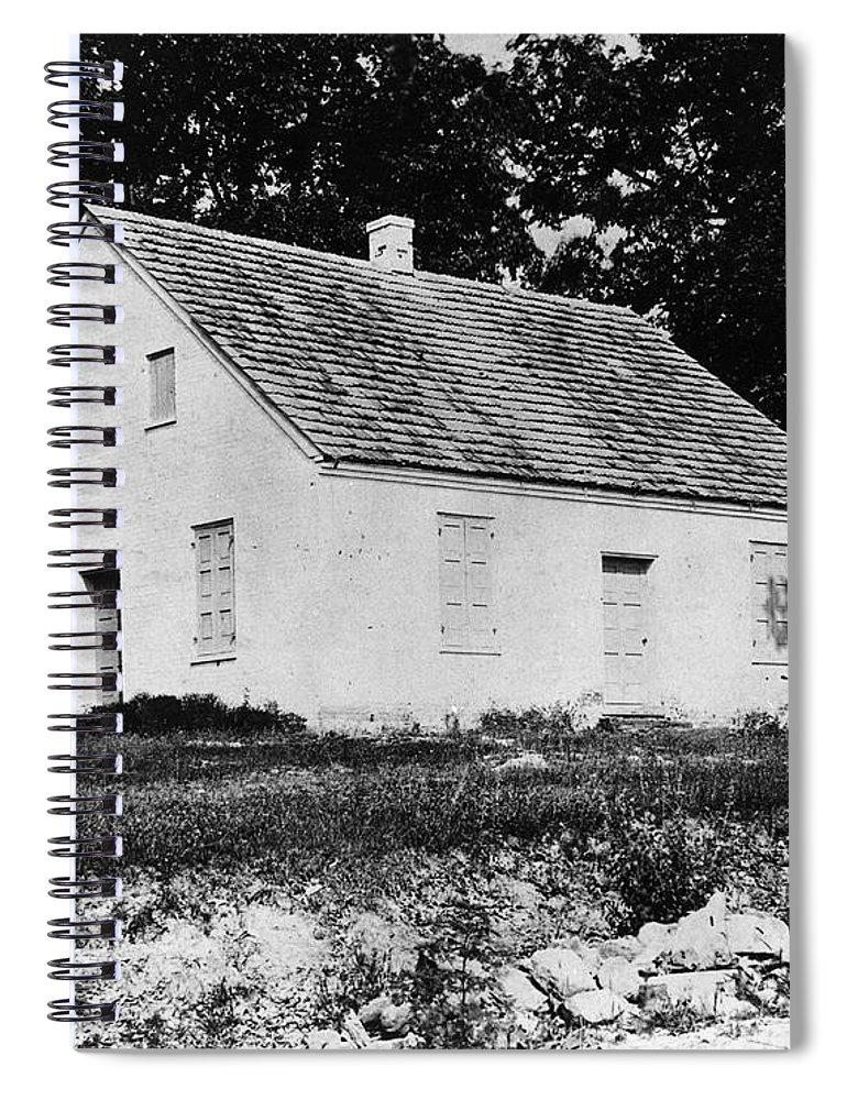 1862 Spiral Notebook featuring the photograph Antietam: Dunker Church by Granger