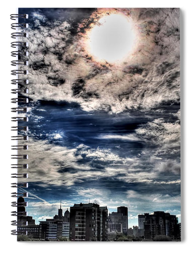 Spiral Notebook featuring the photograph Beauty Of The Morning Sky by Michael Frank Jr