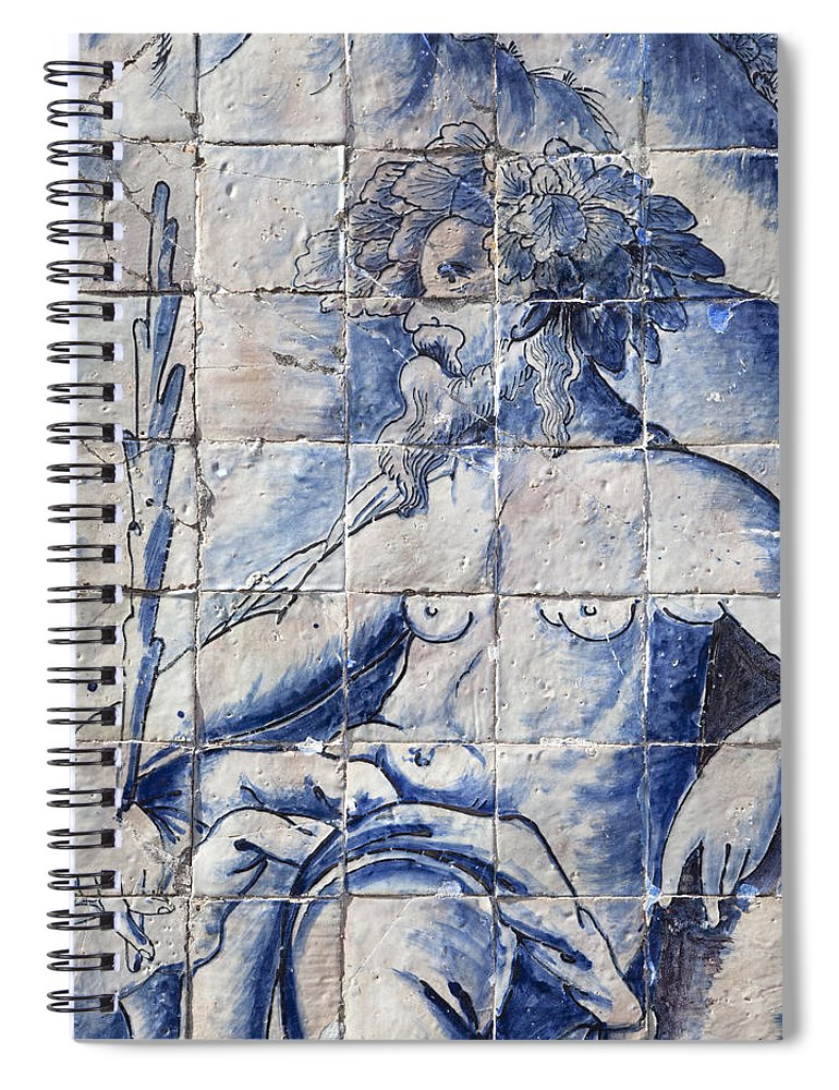 Architecture Spiral Notebook featuring the photograph Benfica, Lisbon, Portugal by Axiom Photographic