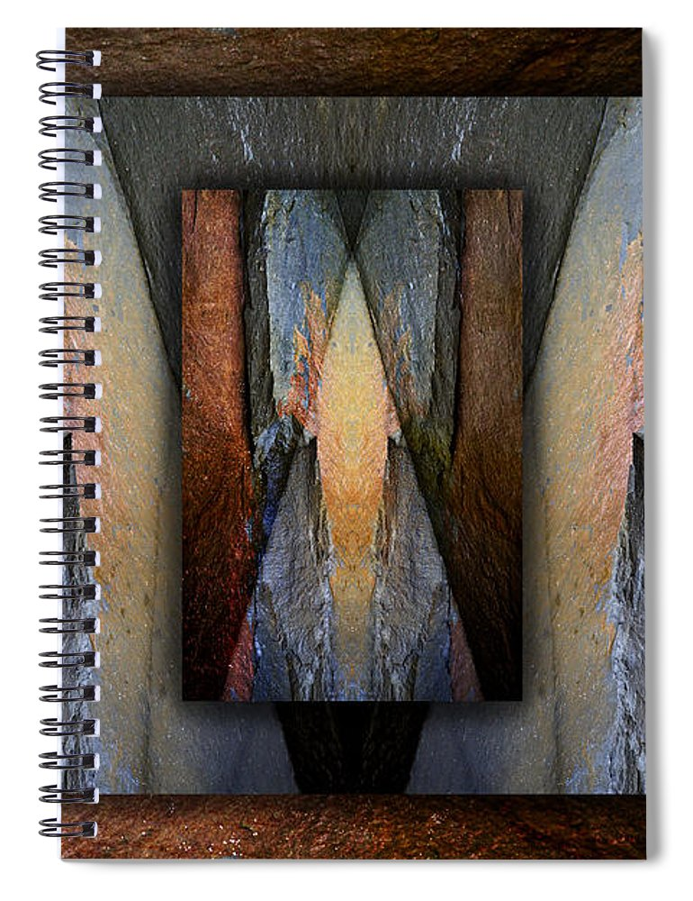 Bold Spiral Notebook featuring the photograph Between Tides Number 3 by Carol Leigh