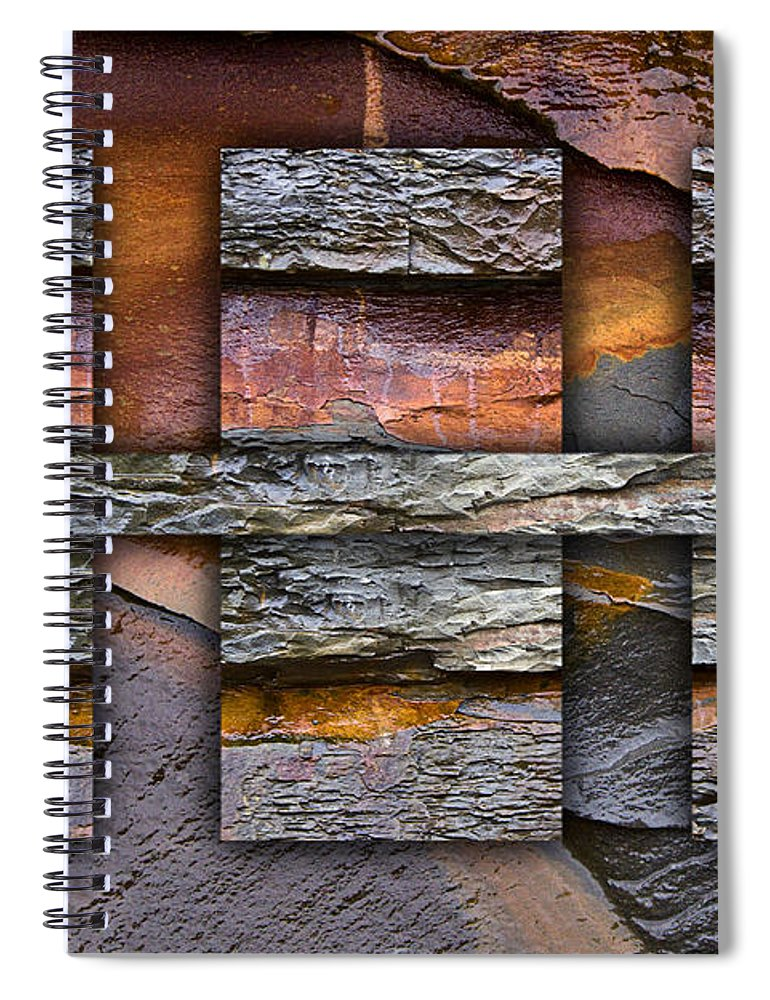 Bold Spiral Notebook featuring the photograph Between Tides Number 5 by Carol Leigh