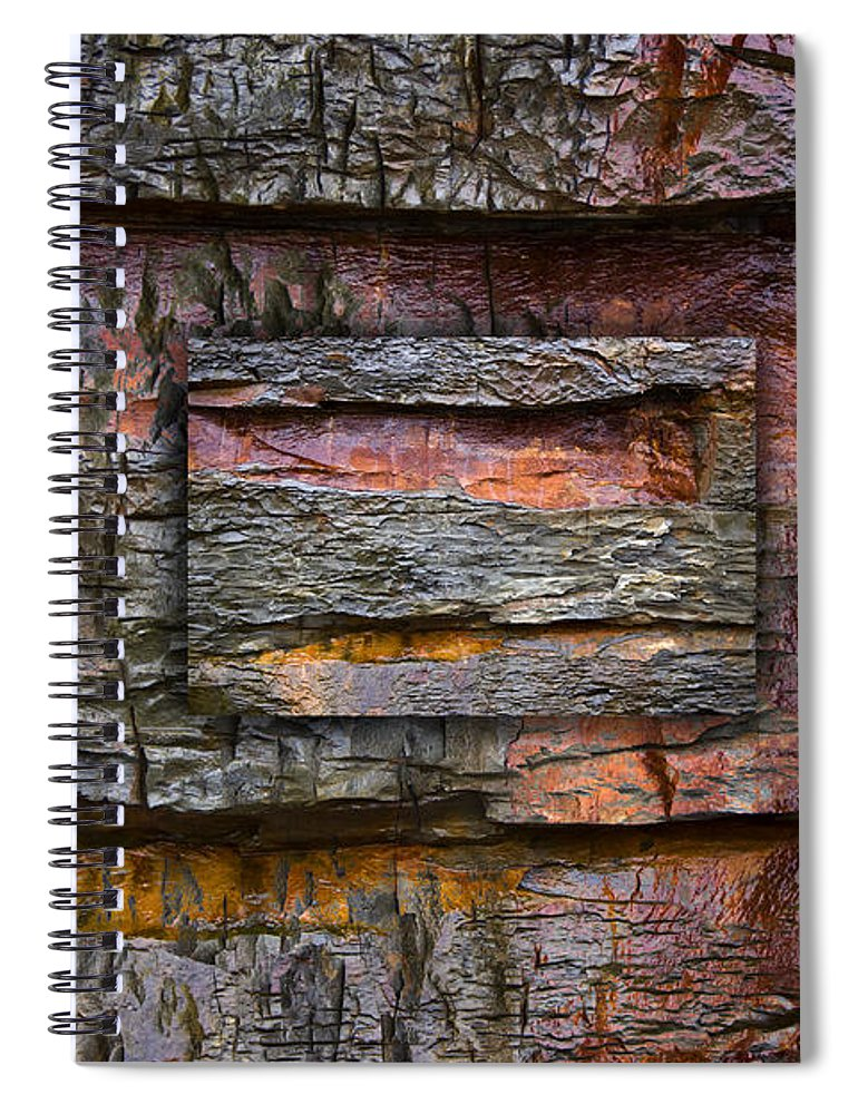 Bold Spiral Notebook featuring the photograph Between Tides Number 7 by Carol Leigh