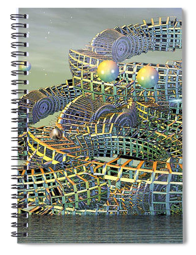 Phil Sadler Spiral Notebook featuring the digital art big by Phil Sadler