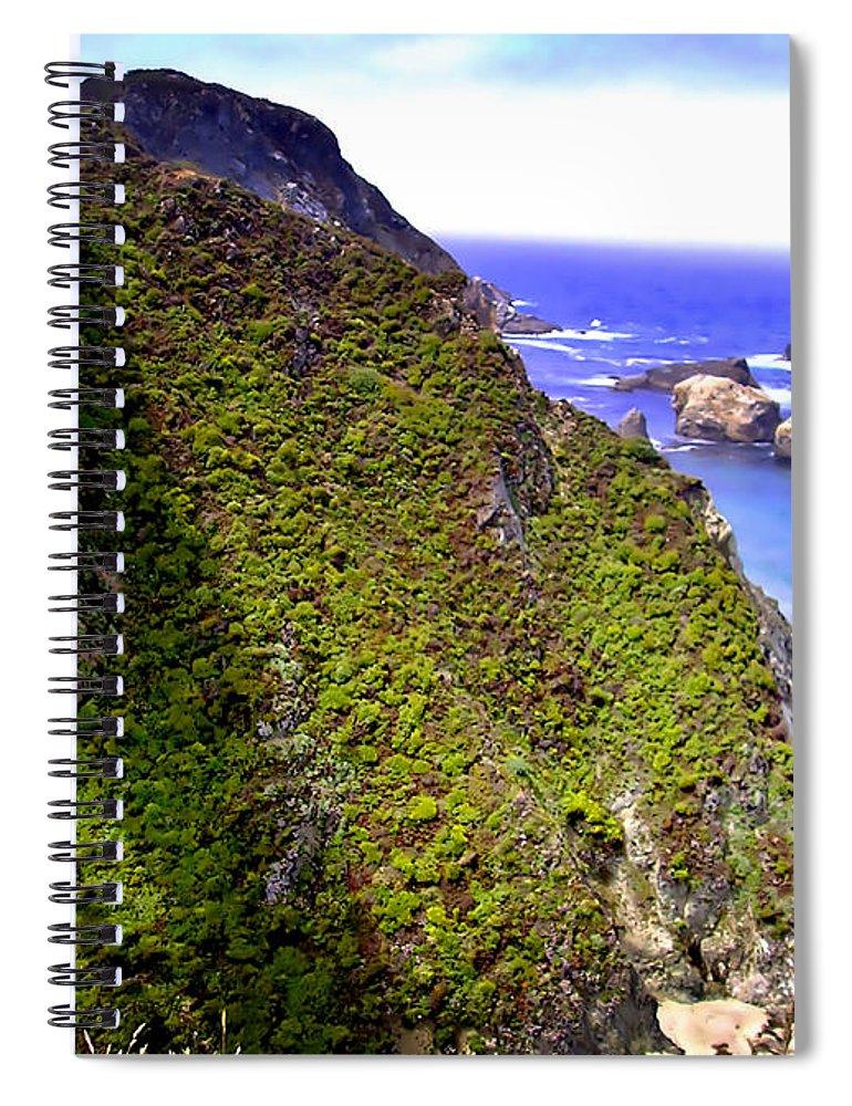 Big Sur Spiral Notebook featuring the photograph Big Sur IIi by Ellen Heaverlo