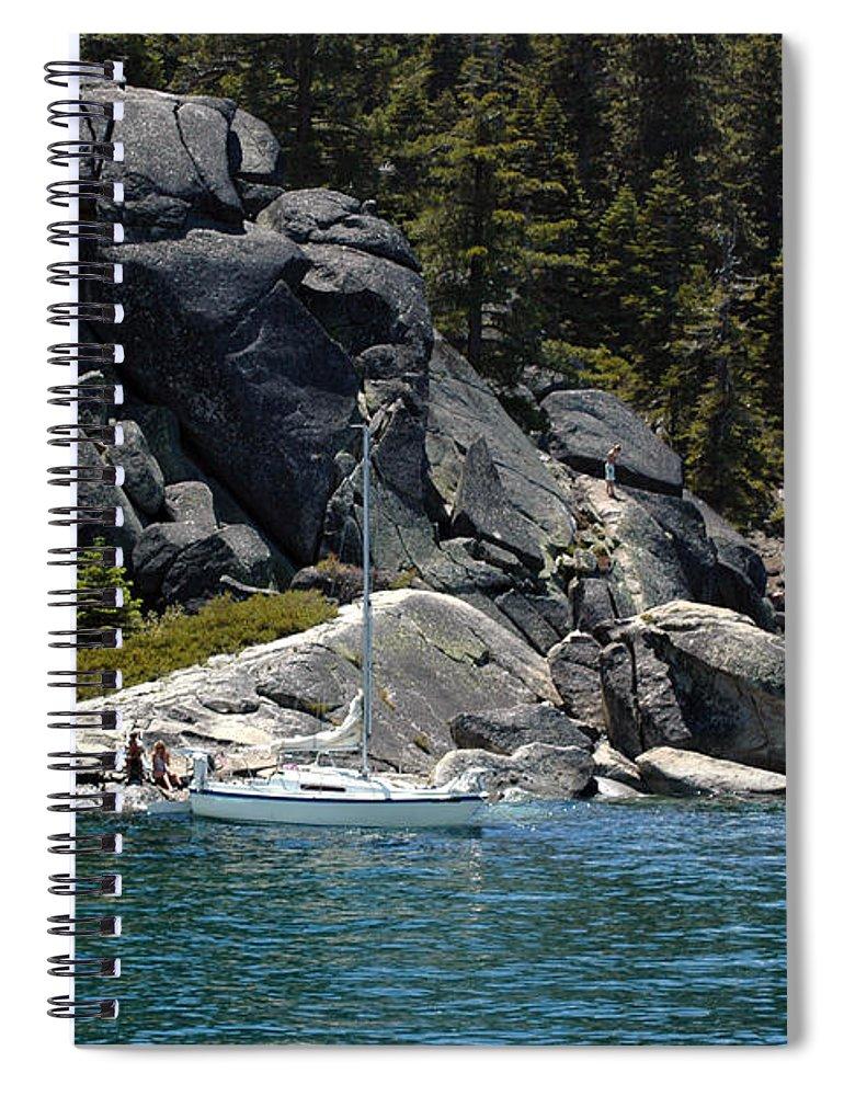 Usa Spiral Notebook featuring the photograph Boat A Rockin by LeeAnn McLaneGoetz McLaneGoetzStudioLLCcom