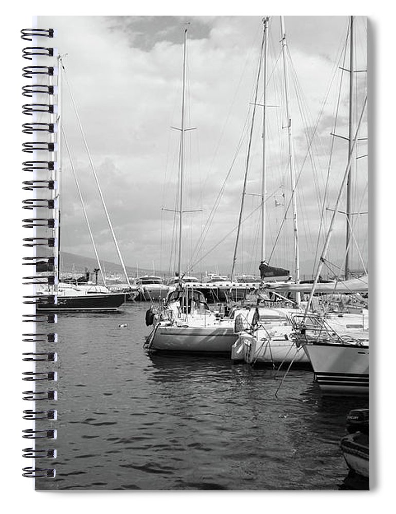 Boats Spiral Notebook featuring the photograph Boats Meeting by La Dolce Vita