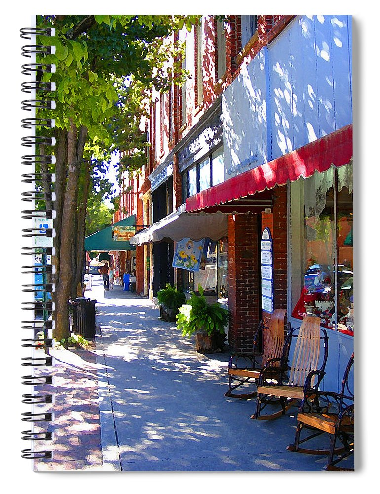 Brevard Spiral Notebook featuring the photograph Brevard Downtown Filtered by Duane McCullough