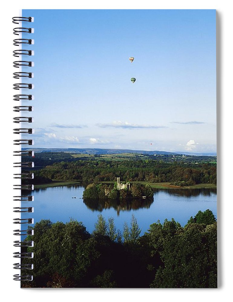 Blue Sky Spiral Notebook featuring the photograph Castle Island, Lough Key Forest Park by The Irish Image Collection