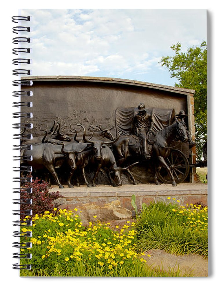 Landscape Spiral Notebook featuring the photograph Chisholm Trail Monument by Toni Hopper
