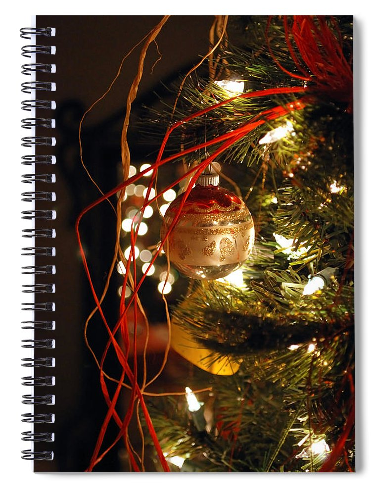 Festive Spiral Notebook featuring the photograph Christmas Ornament by Charles Bacon Jr