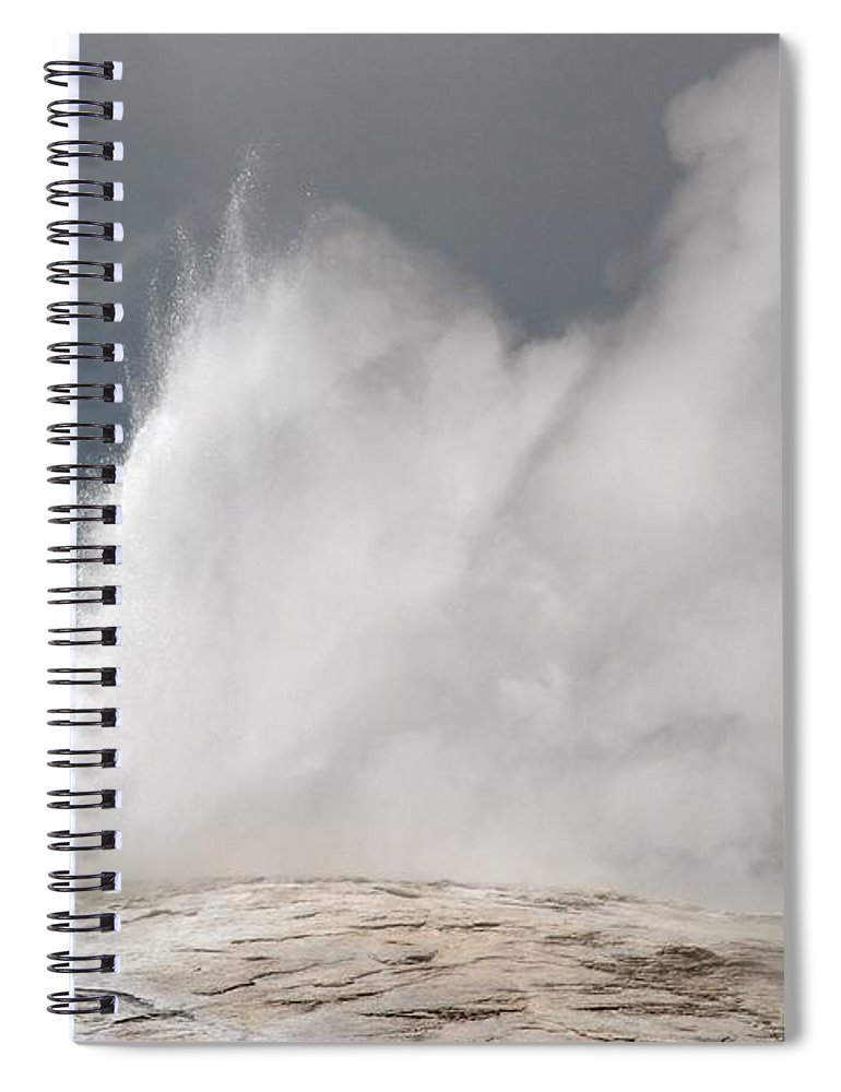 Old Faithful Spiral Notebook featuring the photograph Close Up Of Old Faithful by Living Color Photography Lorraine Lynch