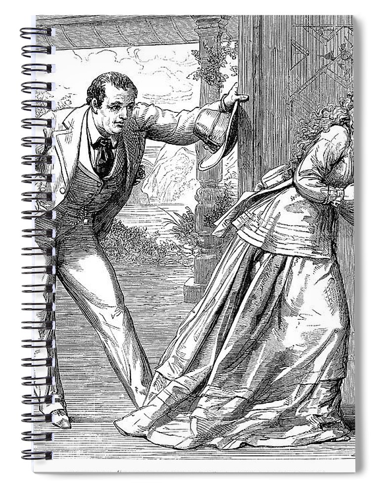 1871 Spiral Notebook featuring the photograph Collins: Woman In White by Granger