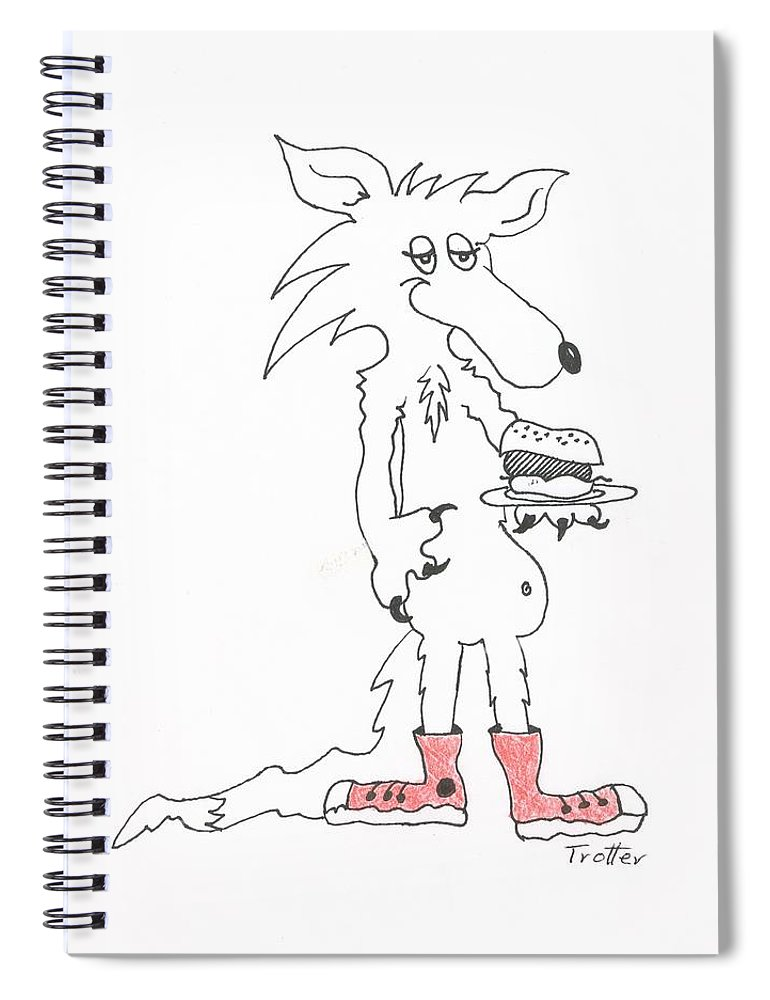 Coyote Spiral Notebook featuring the painting coyote Kitchen art by Patrick Trotter