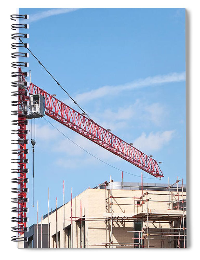 Apartment Spiral Notebook featuring the photograph Crane by Tom Gowanlock