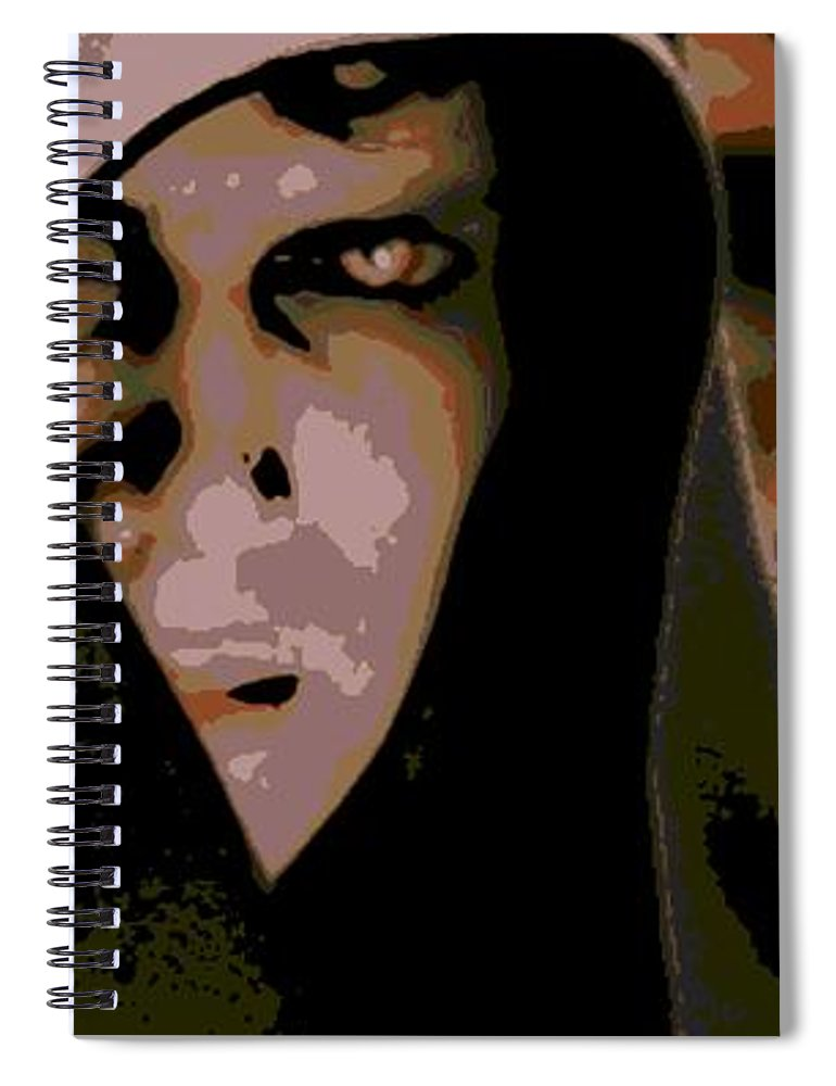 Anakin Skywalker Spiral Notebook featuring the photograph Darkness by George Pedro