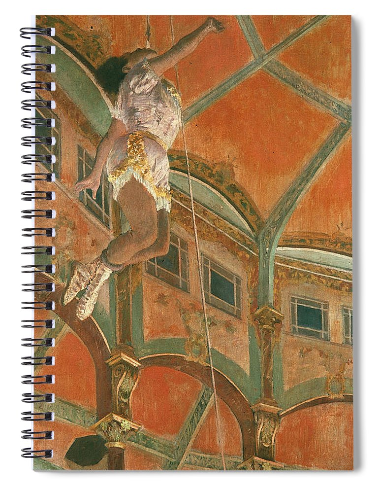 1879 Spiral Notebook featuring the photograph Degas: Miss La La by Granger
