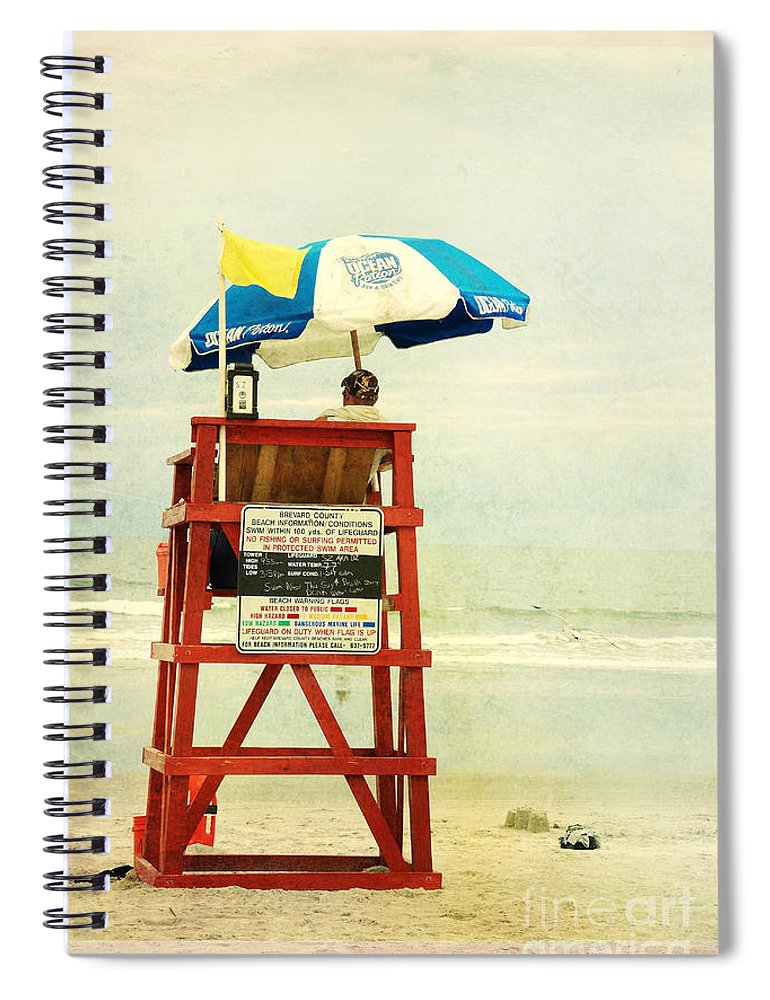 Beach Spiral Notebook featuring the photograph Duty Time by Susanne Van Hulst