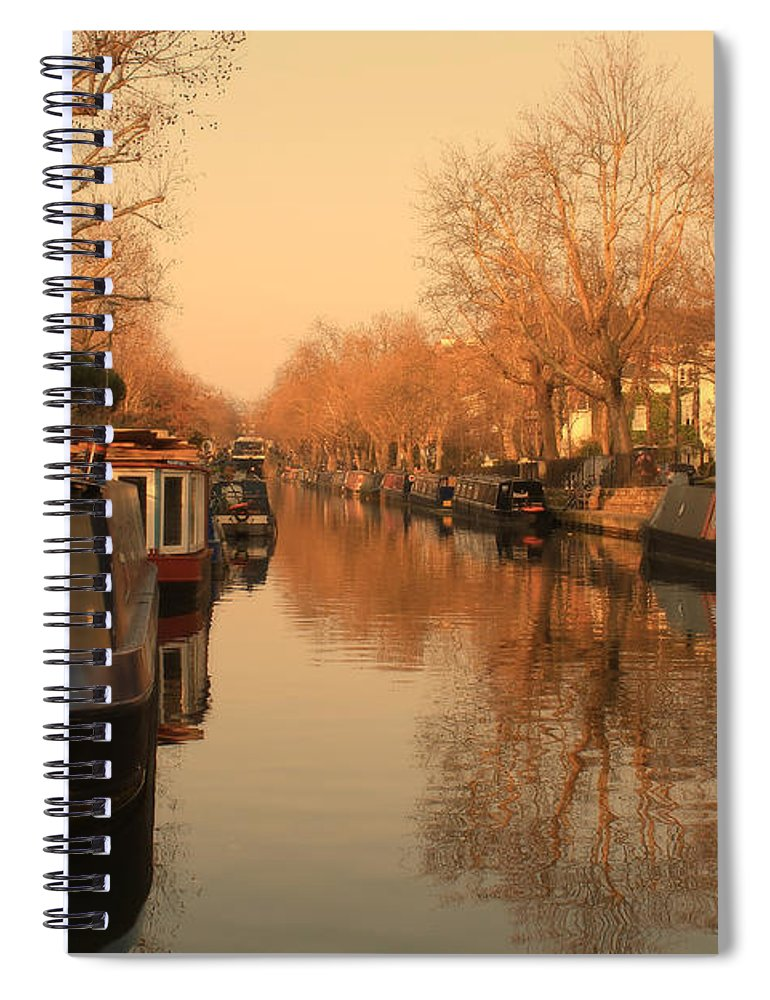 Little Venice Spiral Notebook featuring the photograph Easy Afternoon by Jasna Buncic
