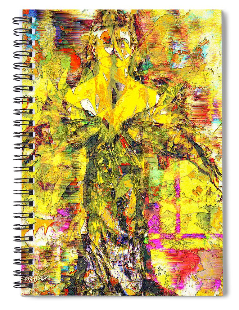 Embrace Of Fall Spiral Notebook featuring the digital art Embrace of Fall by Seth Weaver
