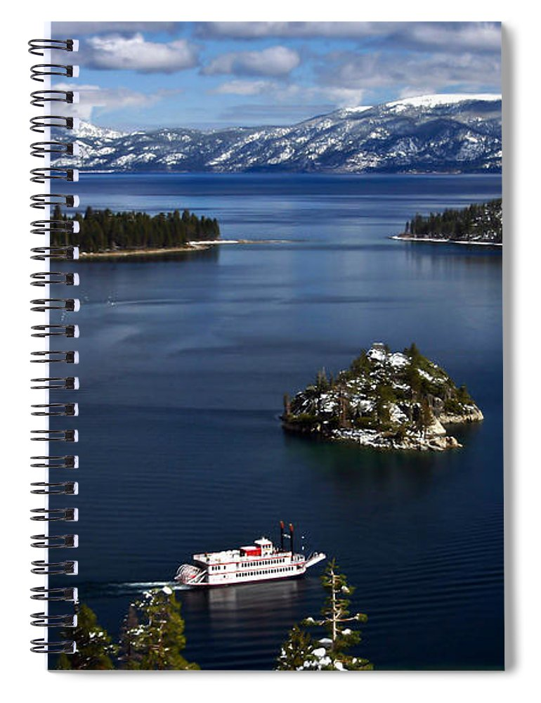 Emerald Bay Spiral Notebook featuring the photograph Emerald Bay. by Mitch Shindelbower